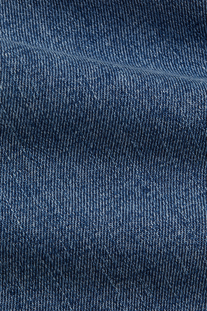 Jeans cropped dal taglio fashion, BLUE LIGHT WASHED, detail image number 4