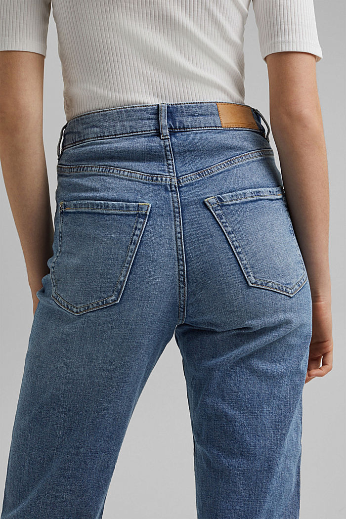 Jeans cropped dal taglio fashion, BLUE LIGHT WASHED, detail image number 5