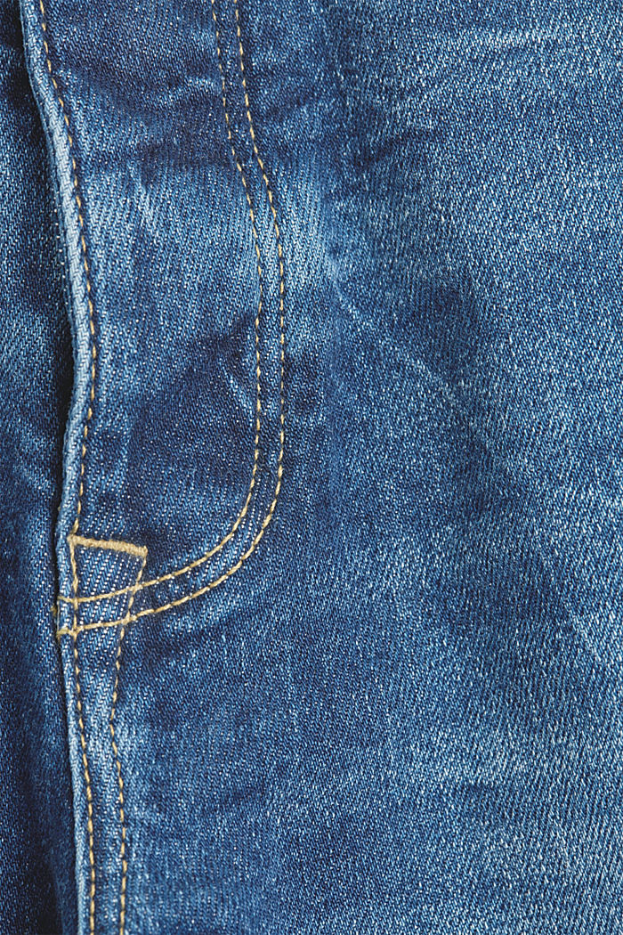 Mom jeans made of organic cotton, BLUE DARK WASHED, detail image number 4