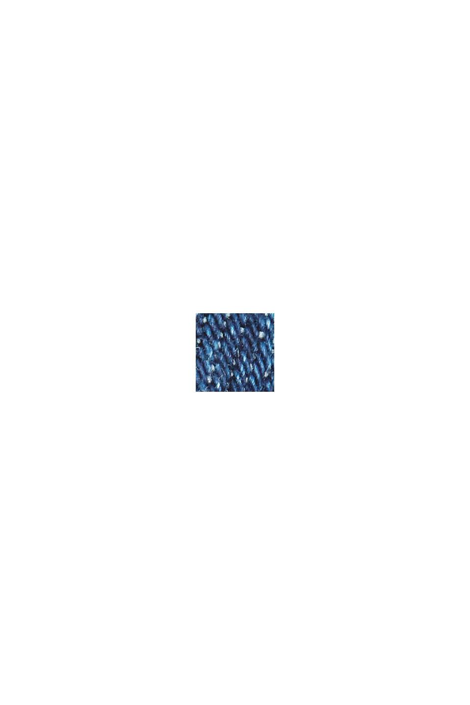 Jean Mom en coton bio, BLUE DARK WASHED, swatch