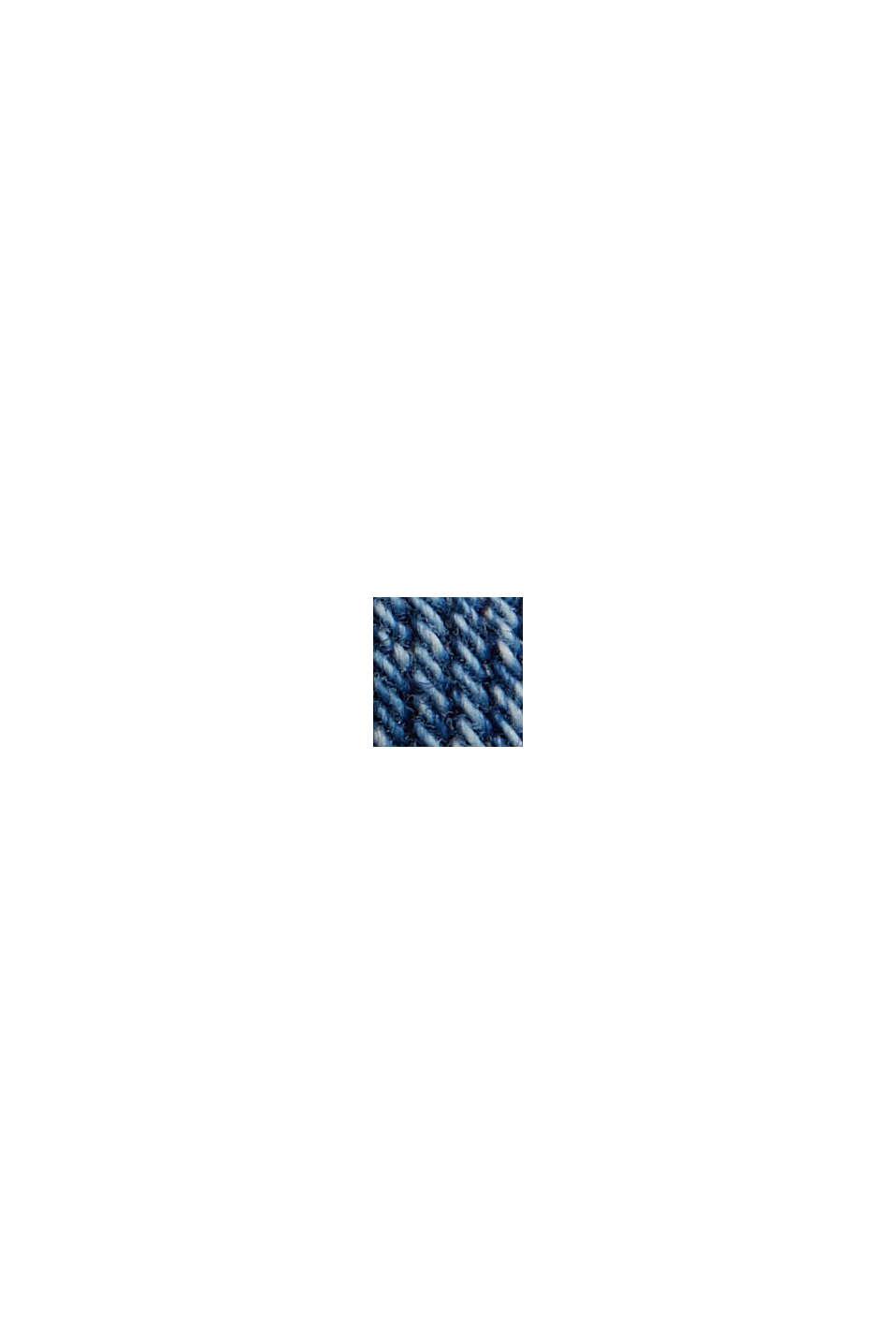 Vaqueros de cintura alta en algodón ecológico, BLUE MEDIUM WASHED, swatch