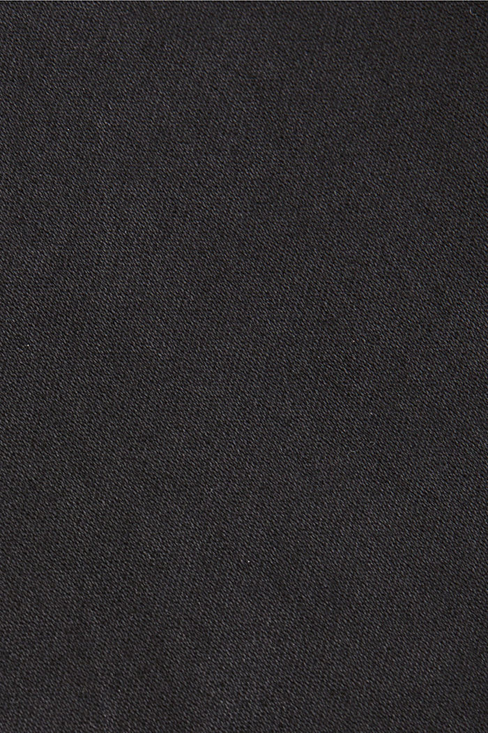 Coated Ankle-Pants mit Organic Cotton, BLACK, detail image number 4