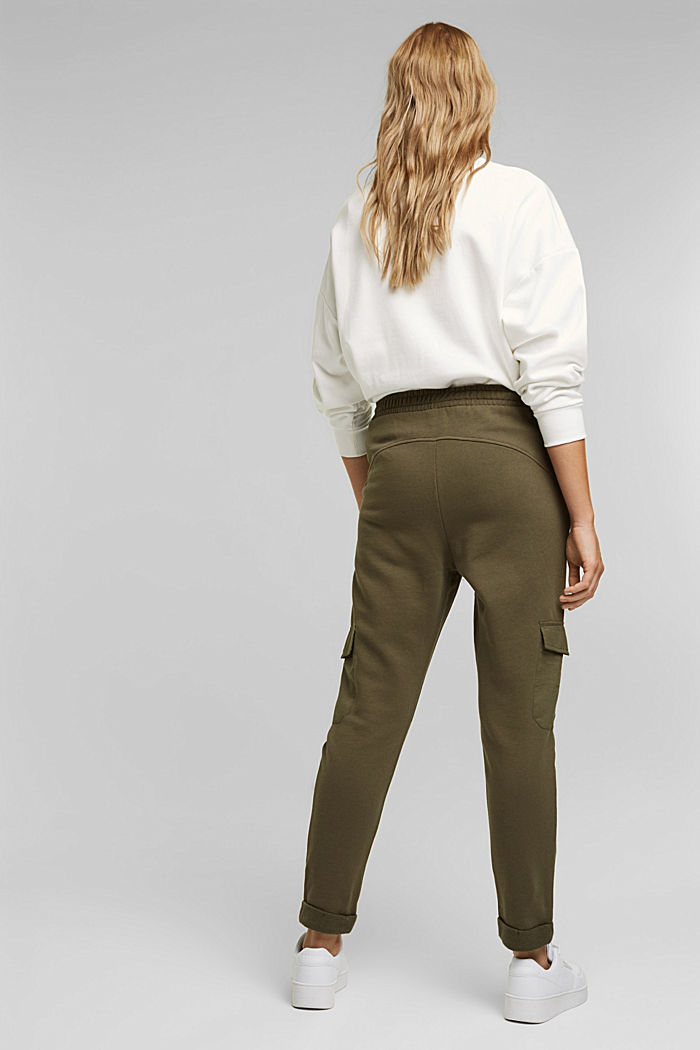 Tracksuit bottoms in a cargo style, KHAKI GREEN, detail image number 3