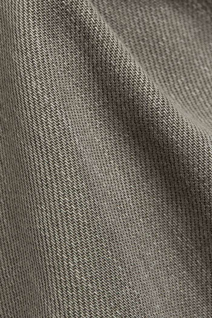 In a TENCEL™ blend: Tracksuit bottoms in a utility style, LIGHT KHAKI, detail image number 4