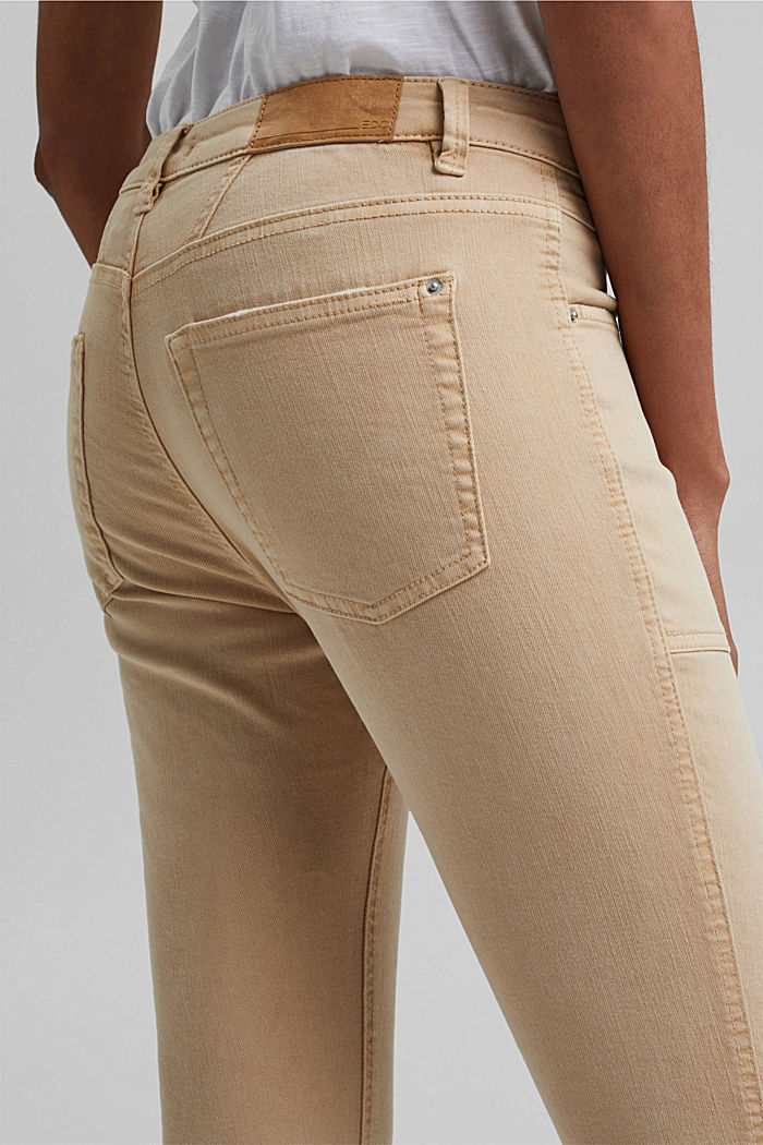 Recycelt: Stretch-Hose mit Zipper, BEIGE, detail image number 6