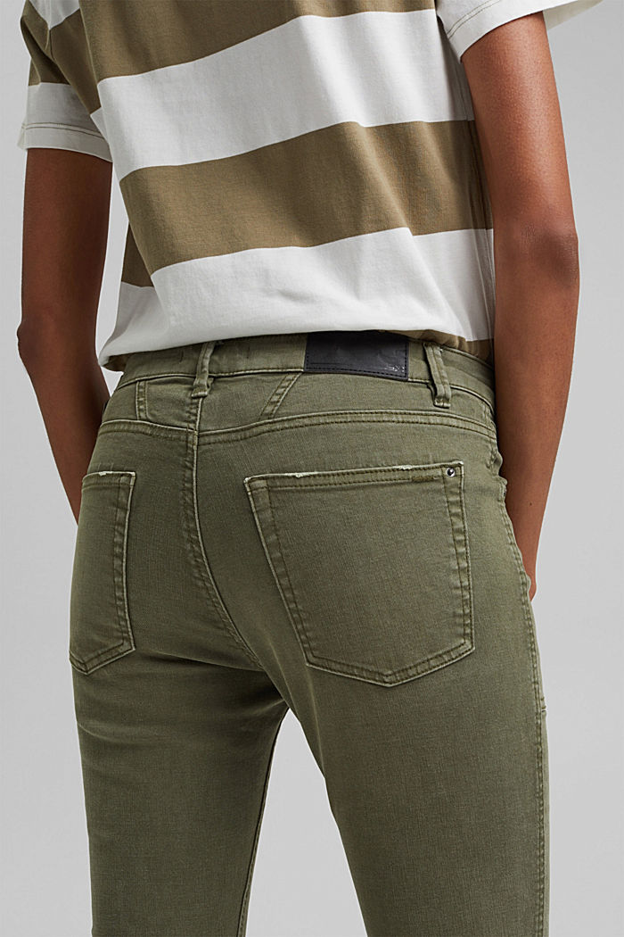 Recycelt: Stretch-Hose mit Zipper, KHAKI GREEN, detail image number 2