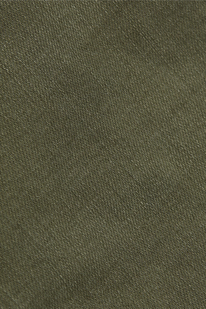 Recycelt: Stretch-Hose mit Zipper, KHAKI GREEN, detail image number 4