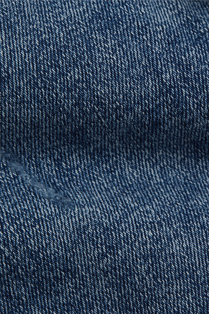 Stretchjeans met een used look, biologisch katoen, BLUE MEDIUM WASHED, detail image number 4