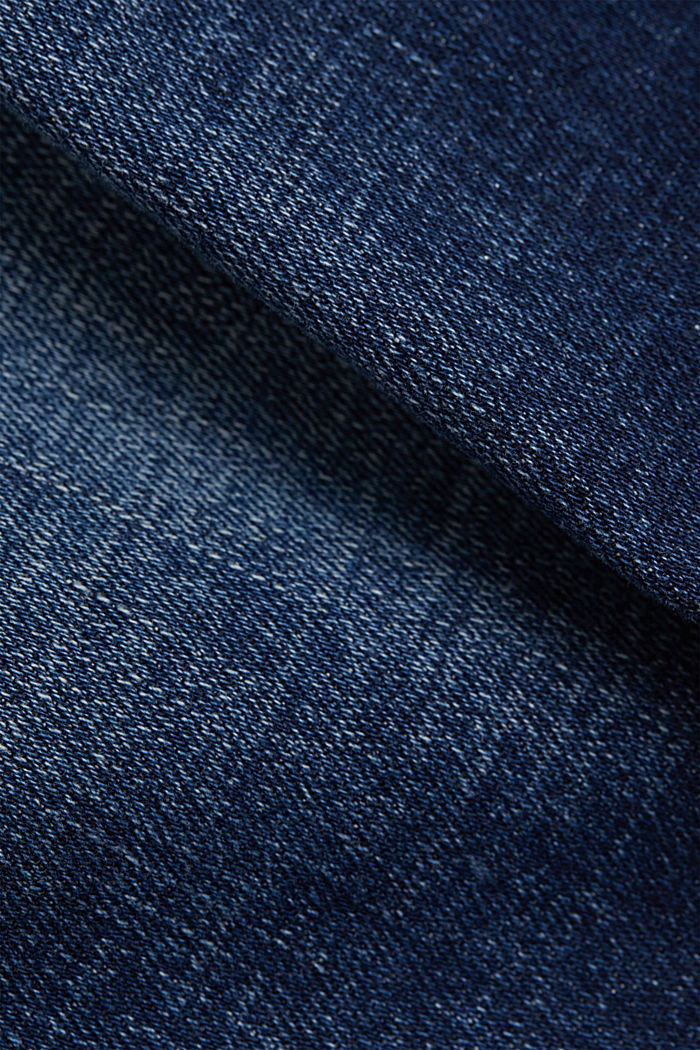 Jeans-Rock aus Organic Cotton, BLUE DARK WASHED, detail image number 4