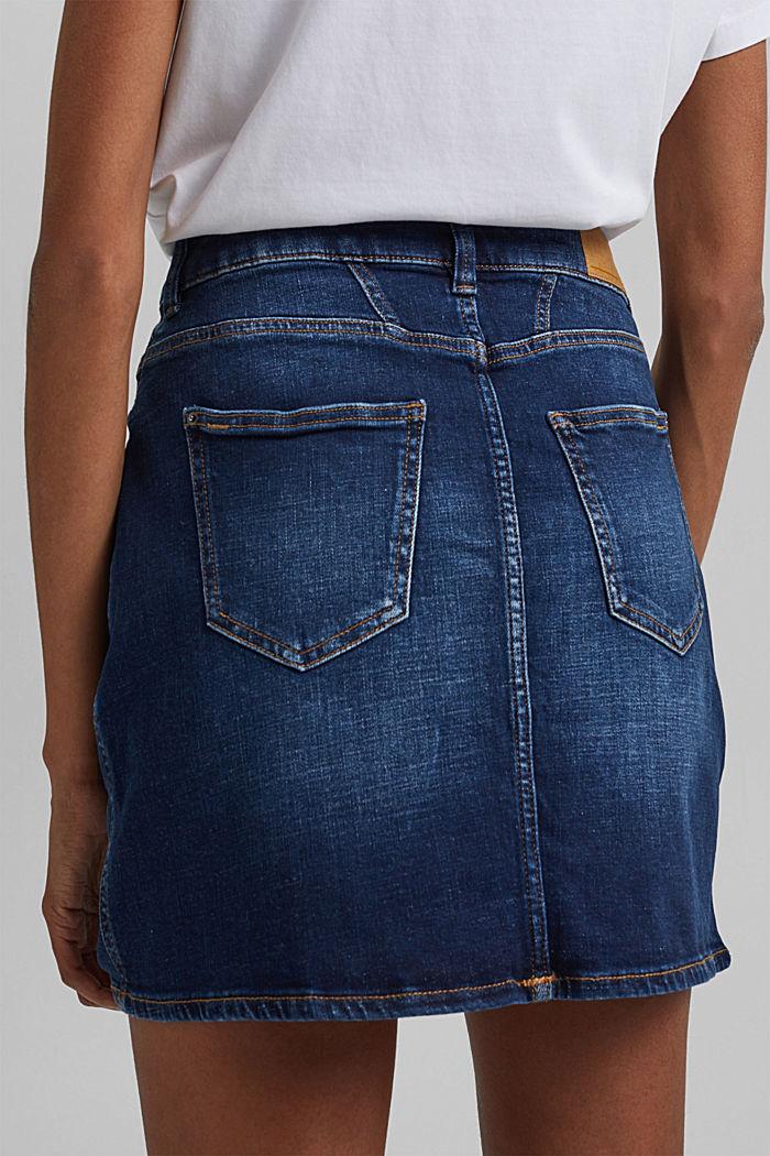 Jeans-Rock aus Organic Cotton, BLUE DARK WASHED, detail image number 5