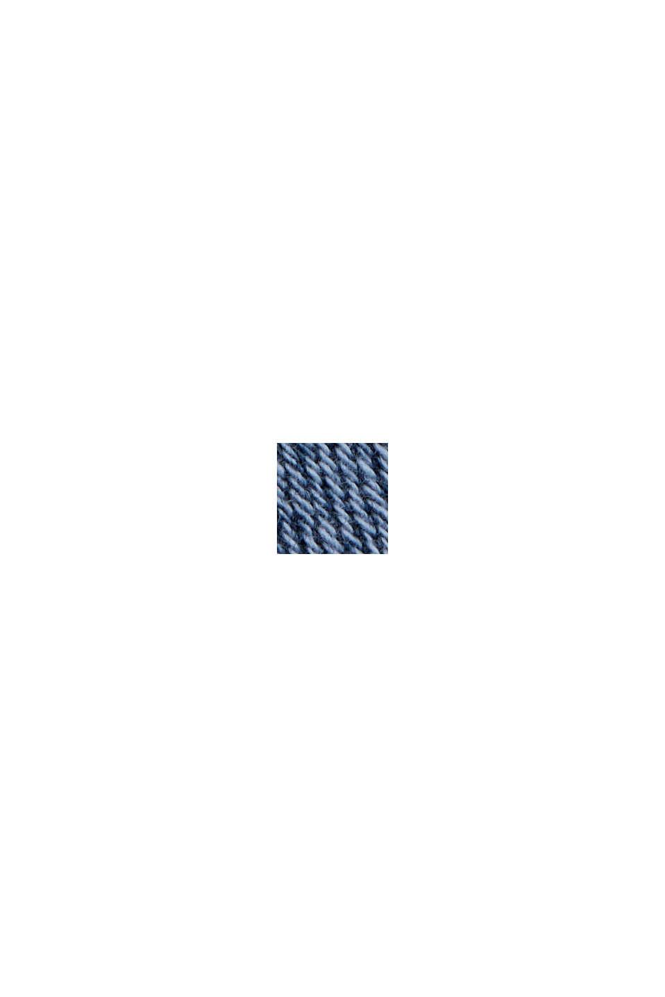 Falda vaquera en algodón ecológico, BLUE MEDIUM WASHED, swatch
