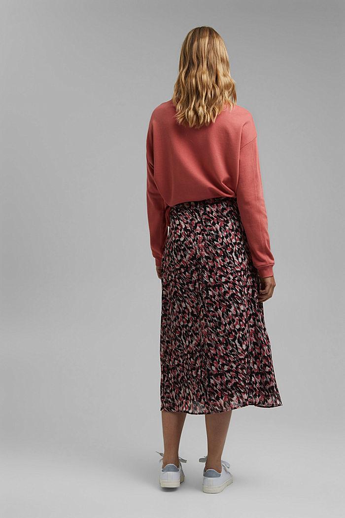 Midi sukně z šifonu, s potiskem, BLACK, detail image number 3