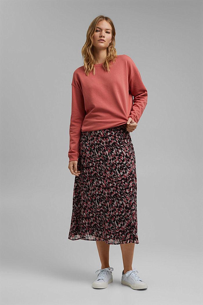 Midi sukně z šifonu, s potiskem, BLACK, detail image number 1