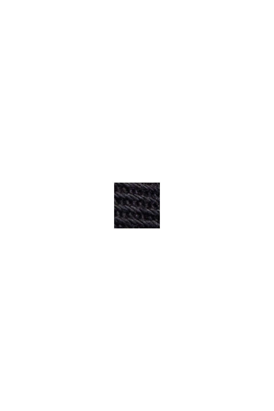 Minifalda elástica de estilo militar, algodón ecológico, BLACK, swatch
