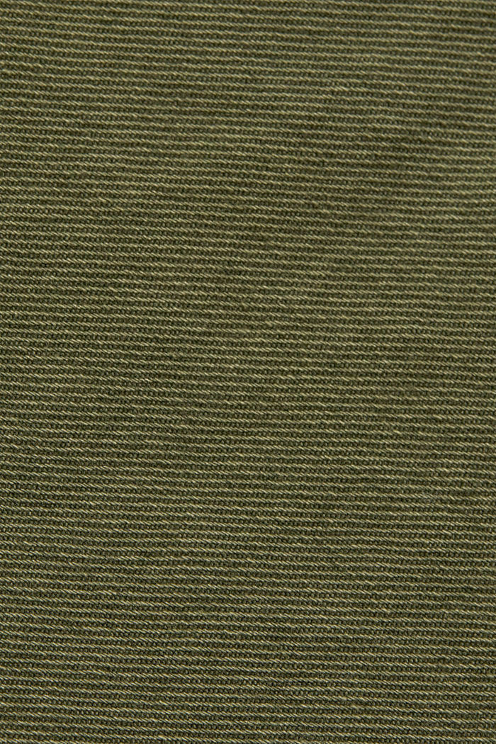 Stretch mini skirt in a utility look, organic cotton, KHAKI GREEN, detail image number 4