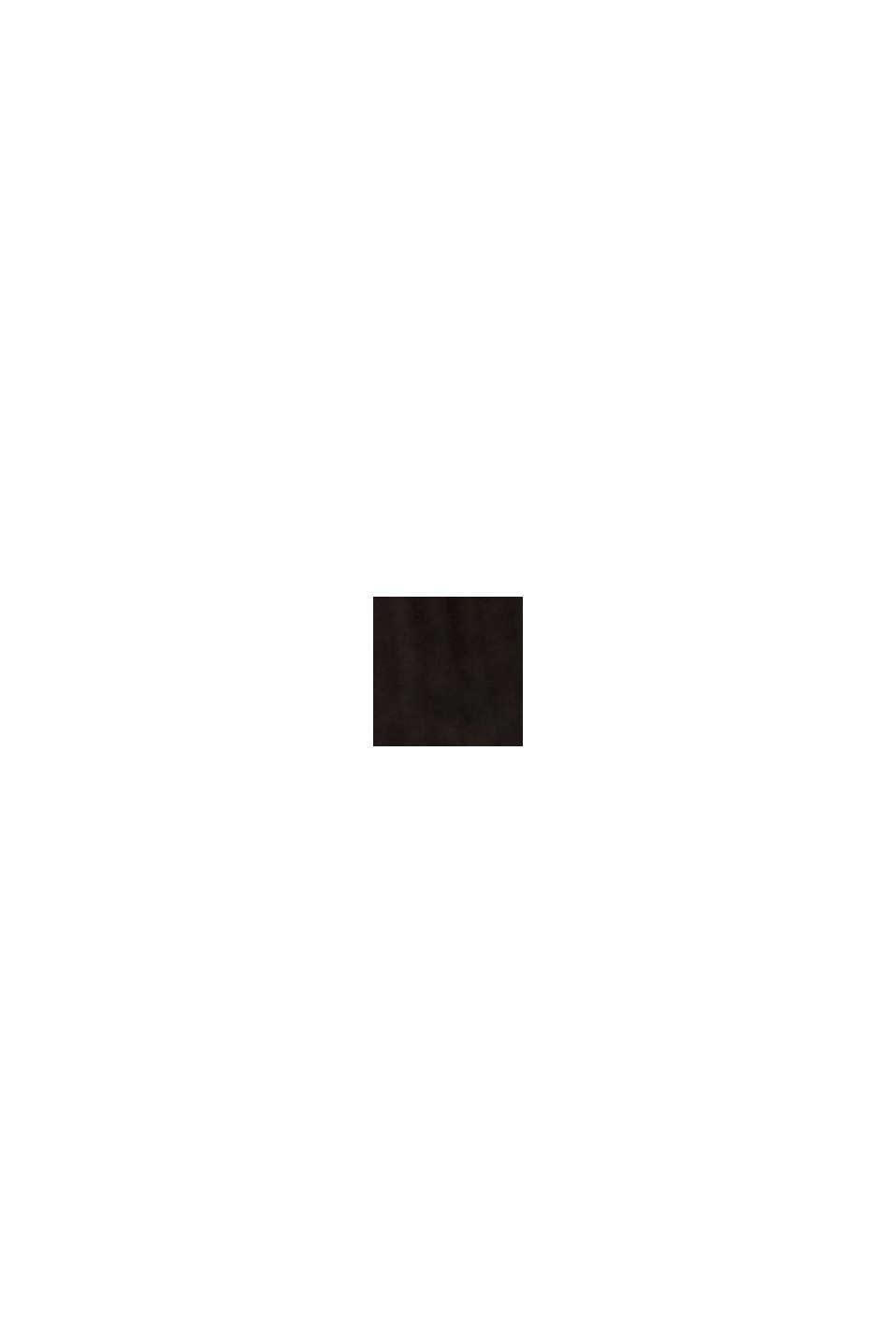 Recycelt: Chiffonkleid mit Rüschen, BLACK, swatch