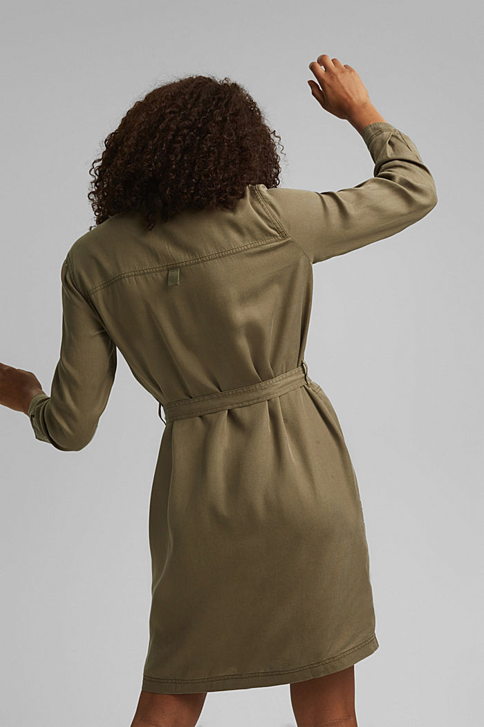 Made of TENCEL™: utility-style dress, KHAKI GREEN, detail image number 2