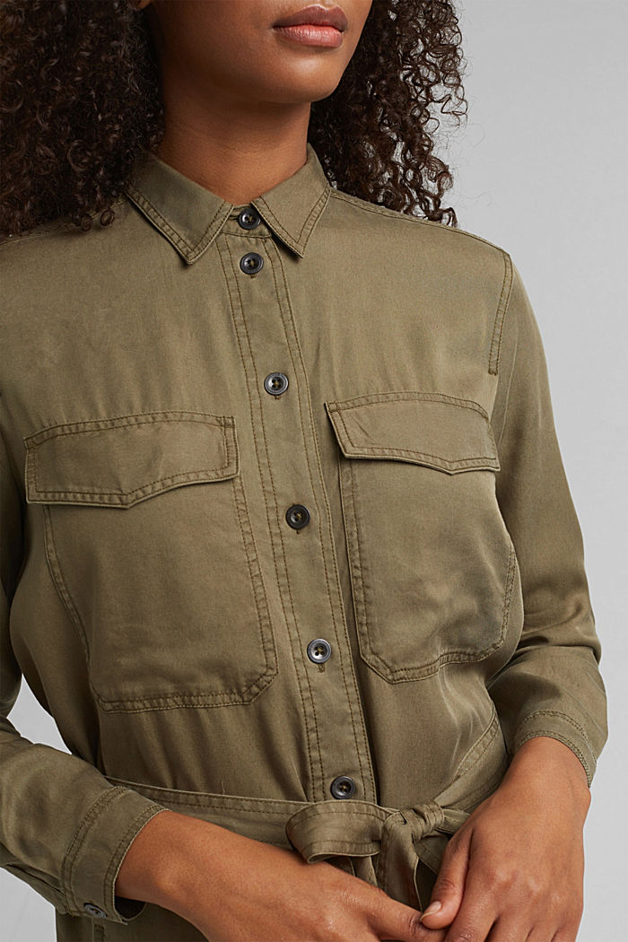 Made of TENCEL™: utility-style dress, KHAKI GREEN, detail image number 3