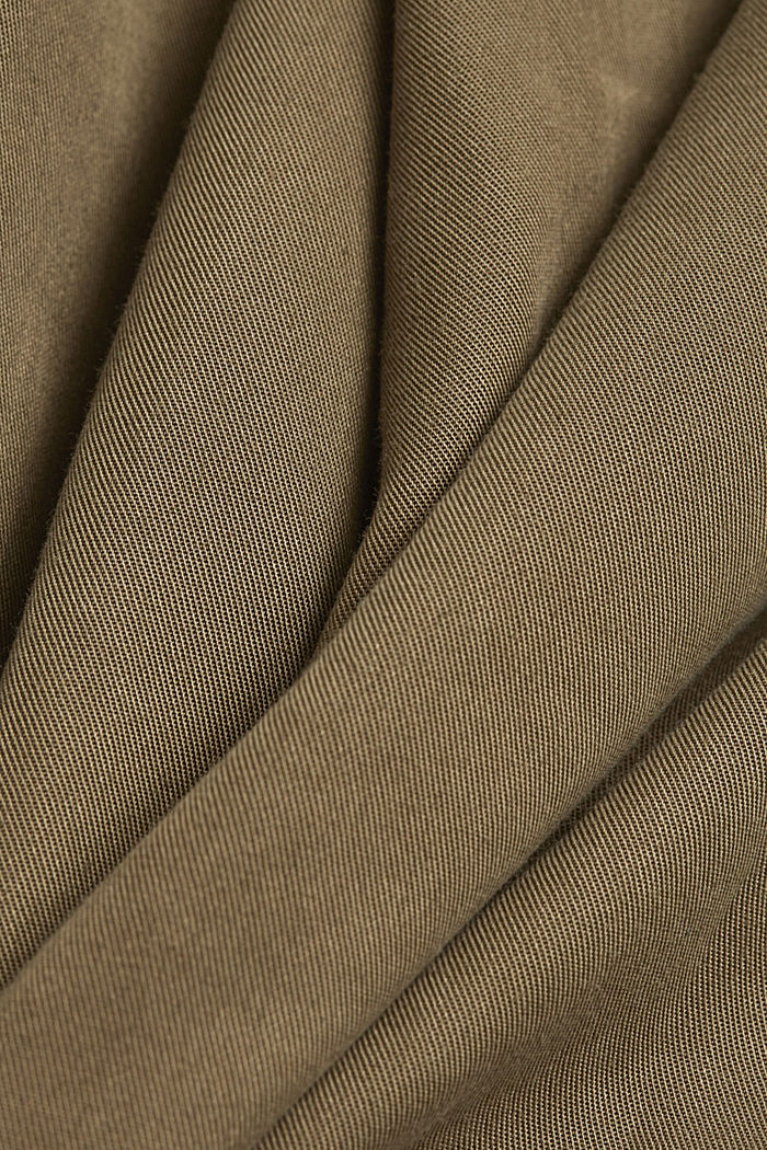 Made of TENCEL™: utility-style dress, KHAKI GREEN, detail image number 4