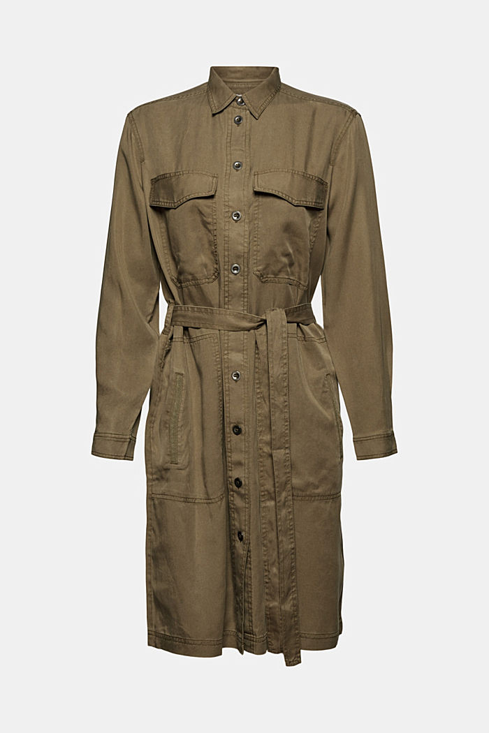Made of TENCEL™: utility-style dress, KHAKI GREEN, detail image number 6