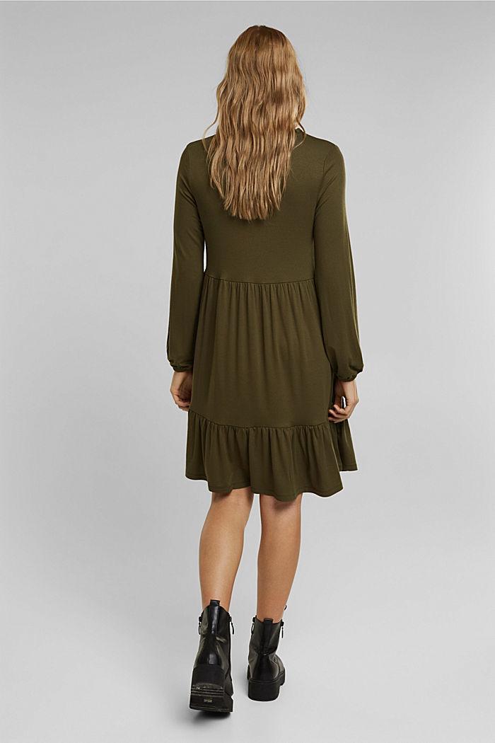 Jersey jurk met LENZING™ ECOVERO™, KHAKI GREEN, detail image number 2