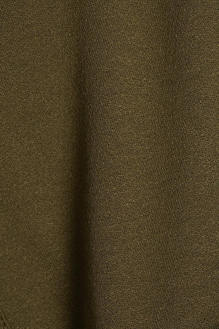 Jersey jurk met LENZING™ ECOVERO™, KHAKI GREEN, detail image number 4