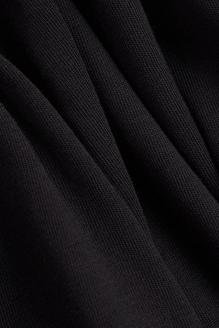 Organic cotton tent dress with a hem frill, BLACK, detail image number 4