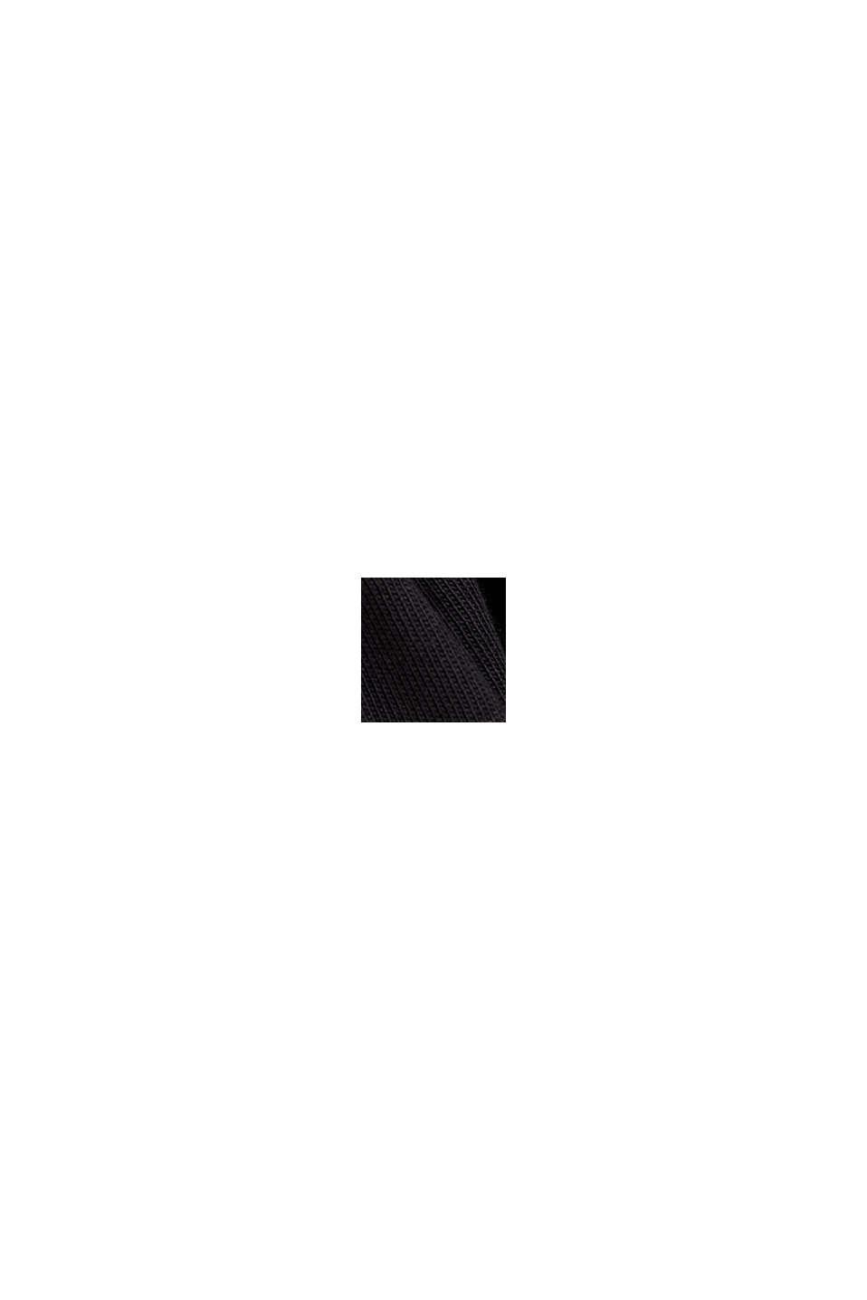 Babydoll med volantkant, økologisk bomuld, BLACK, swatch