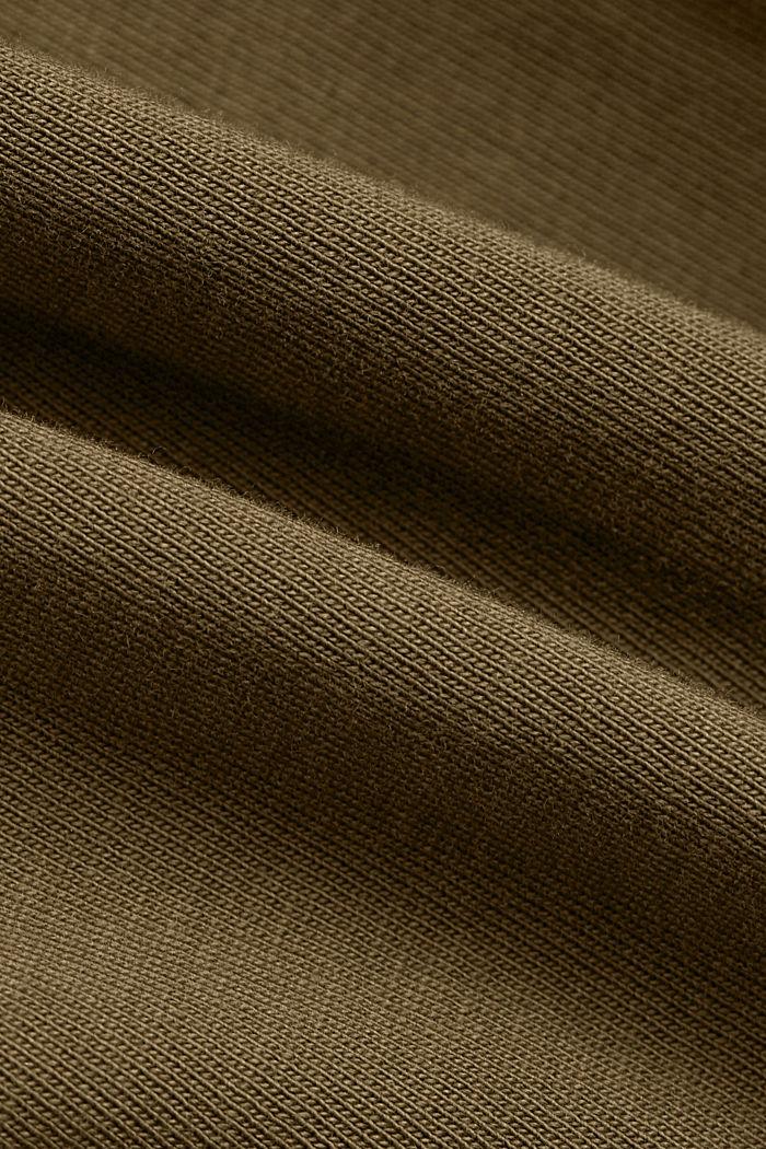 Hängerkleid mit Volantsaum, Organic Cotton, KHAKI GREEN, detail image number 4