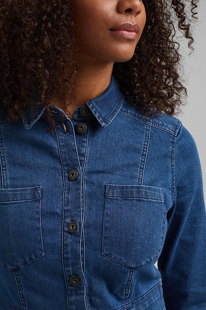 Jeanskleid aus Organic Cotton, BLUE MEDIUM WASHED, detail image number 3