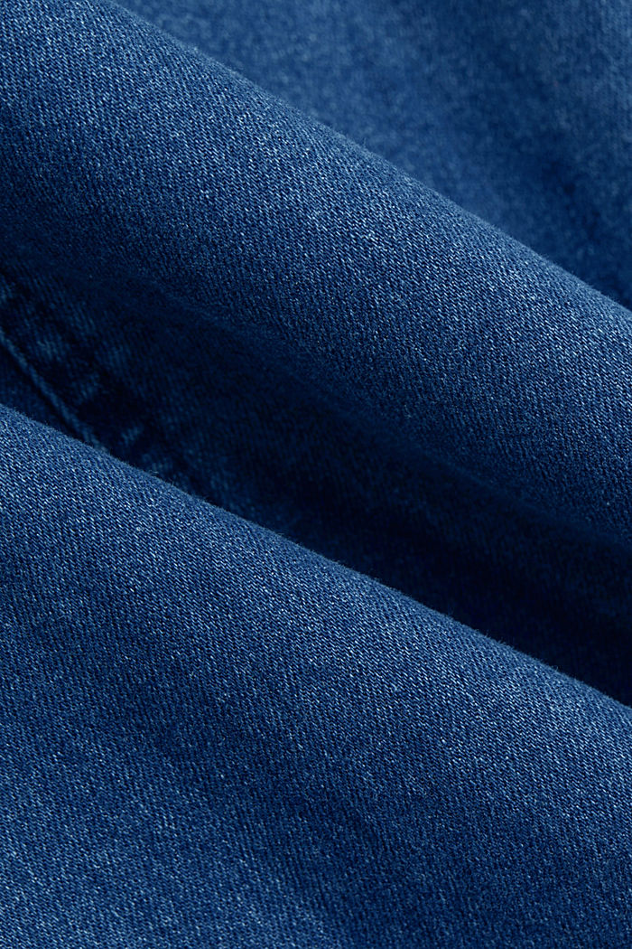 Denim dress in organic cotton, BLUE MEDIUM WASHED, detail image number 4
