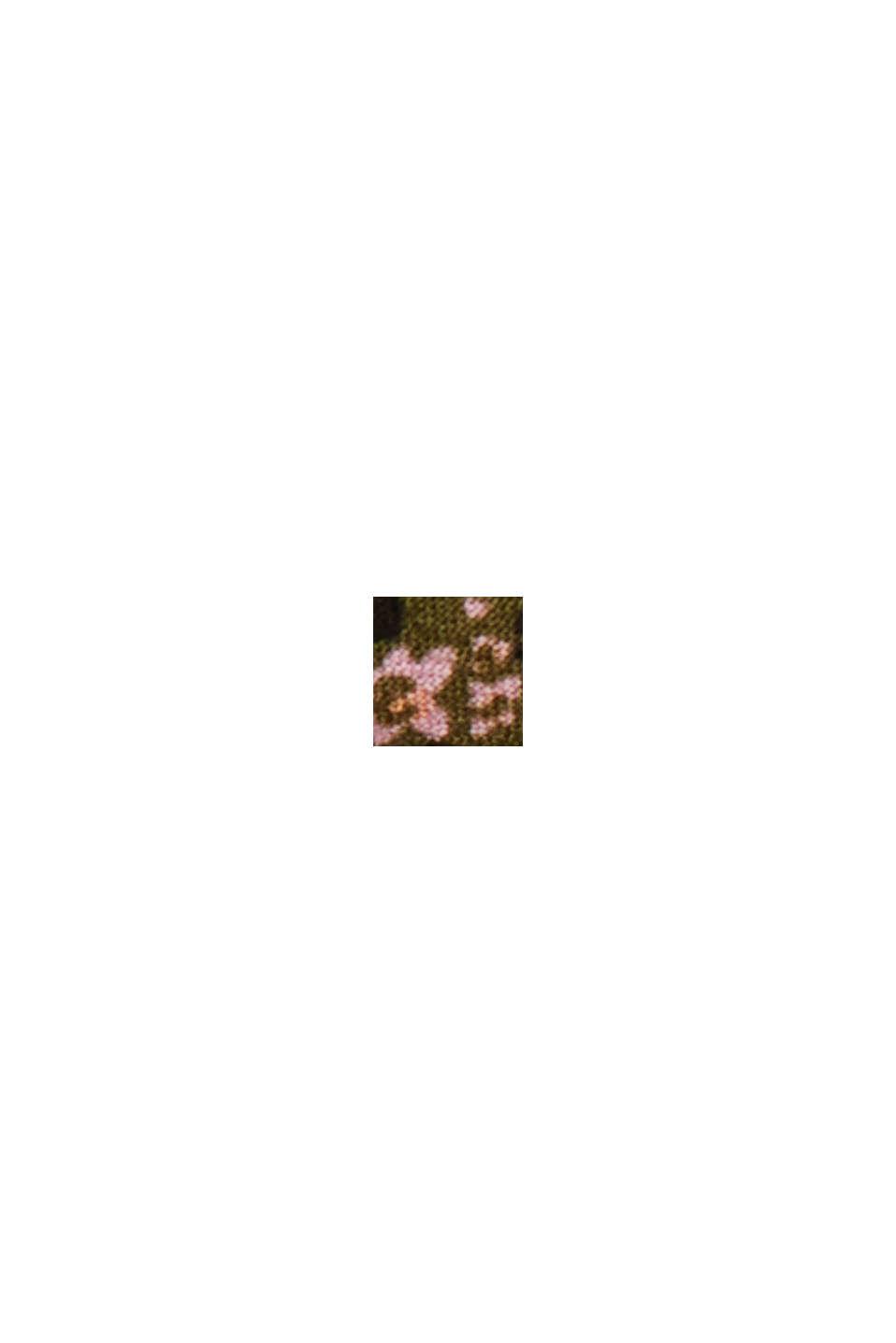Blouse met print van LENZING™ ECOVERO™, KHAKI GREEN, swatch