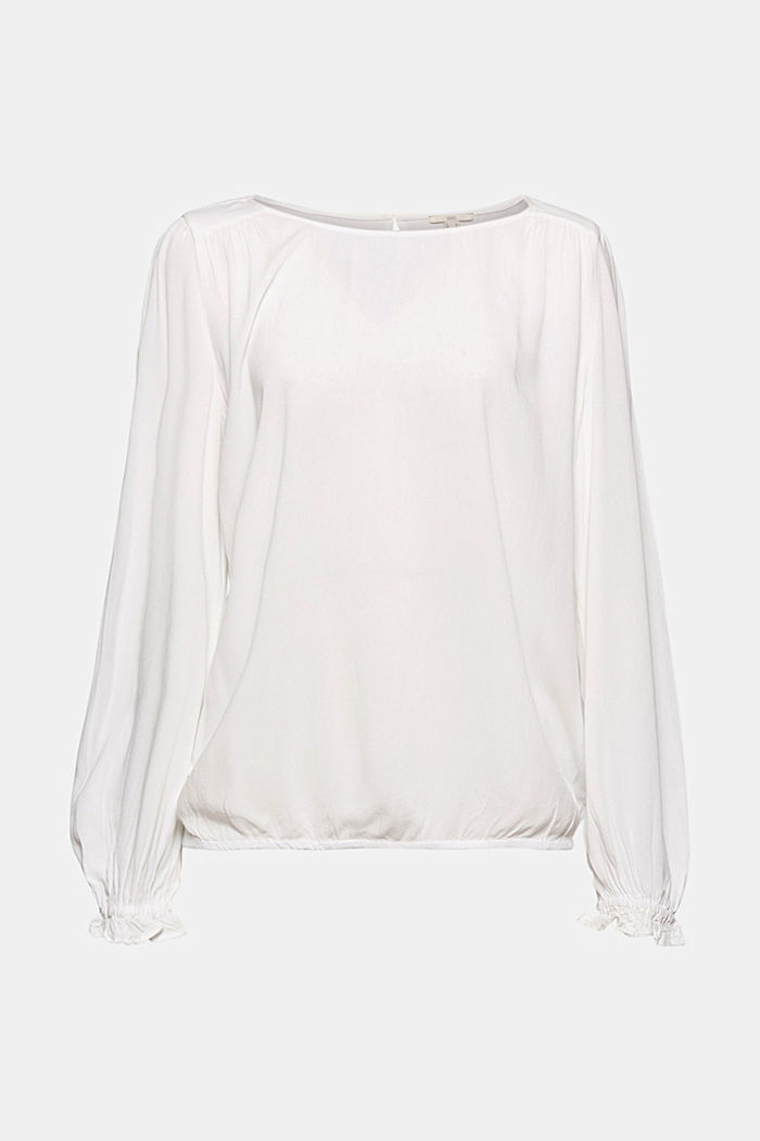 Dainty blouse made of LENZING™ ECOVERO™, OFF WHITE, detail image number 7