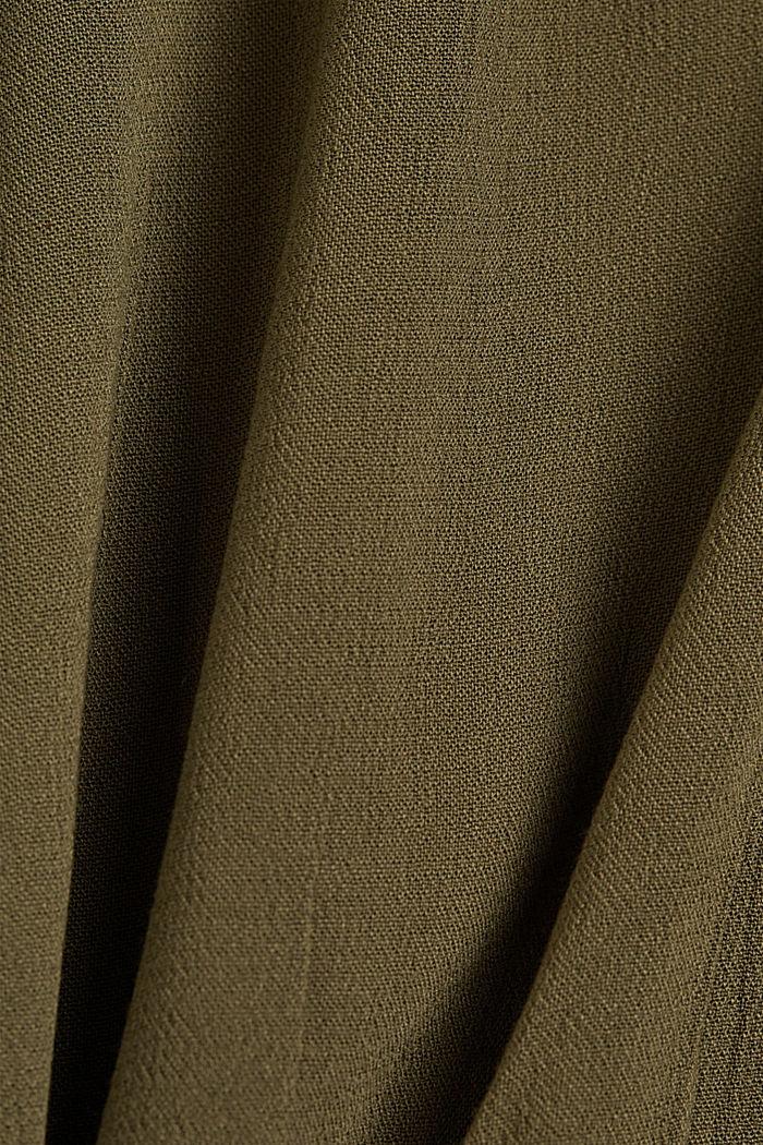 Dainty blouse made of LENZING™ ECOVERO™, KHAKI GREEN, detail image number 4