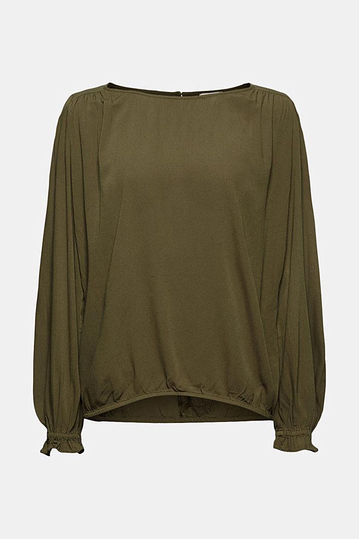 Dainty blouse made of LENZING™ ECOVERO™, KHAKI GREEN, detail image number 9