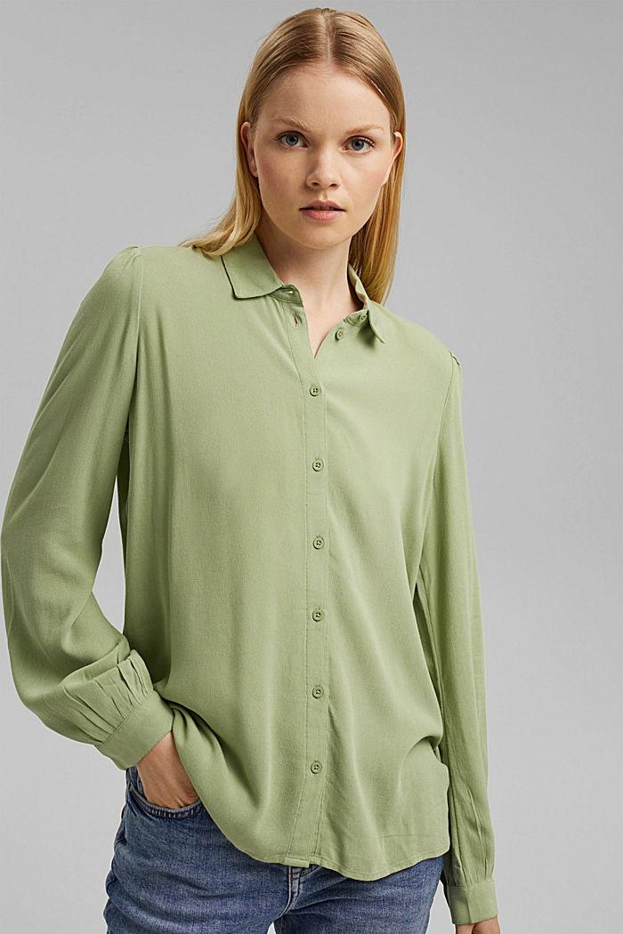 Crêpe-Bluse aus LENZING™ ECOVERO™