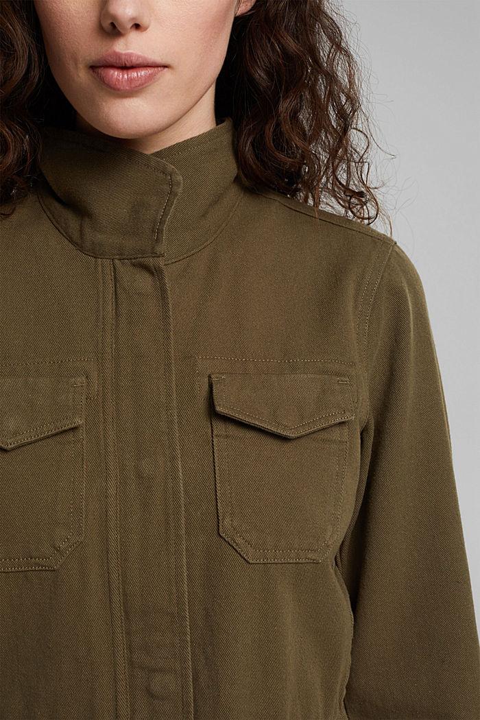 Utility-Jacke aus 100% Organic Cotton, KHAKI GREEN, detail image number 2