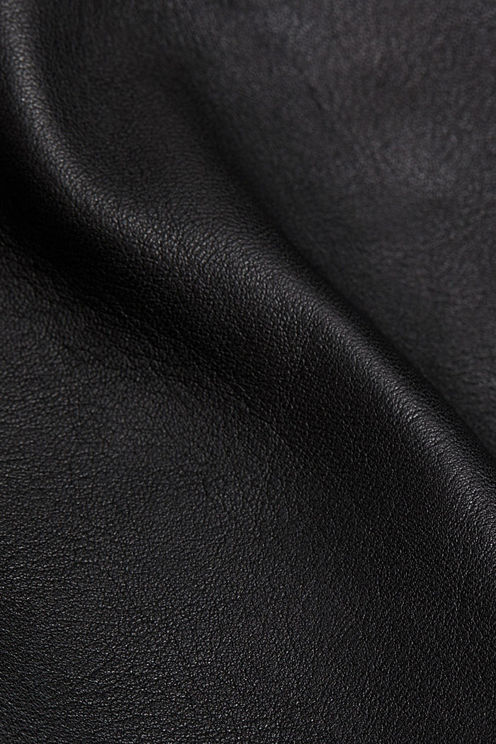 Biker jacket made of 100% leather, BLACK, detail image number 4
