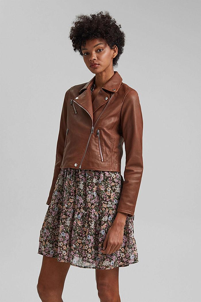 Biker jacket made of 100% leather