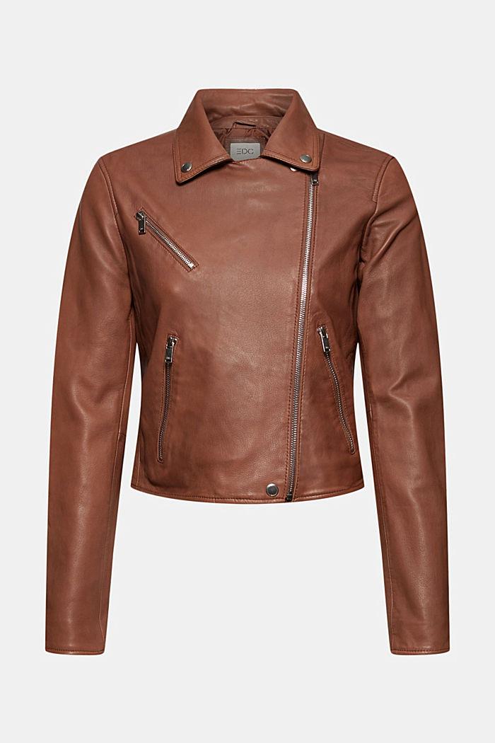 Veste style motard, 100% cuir