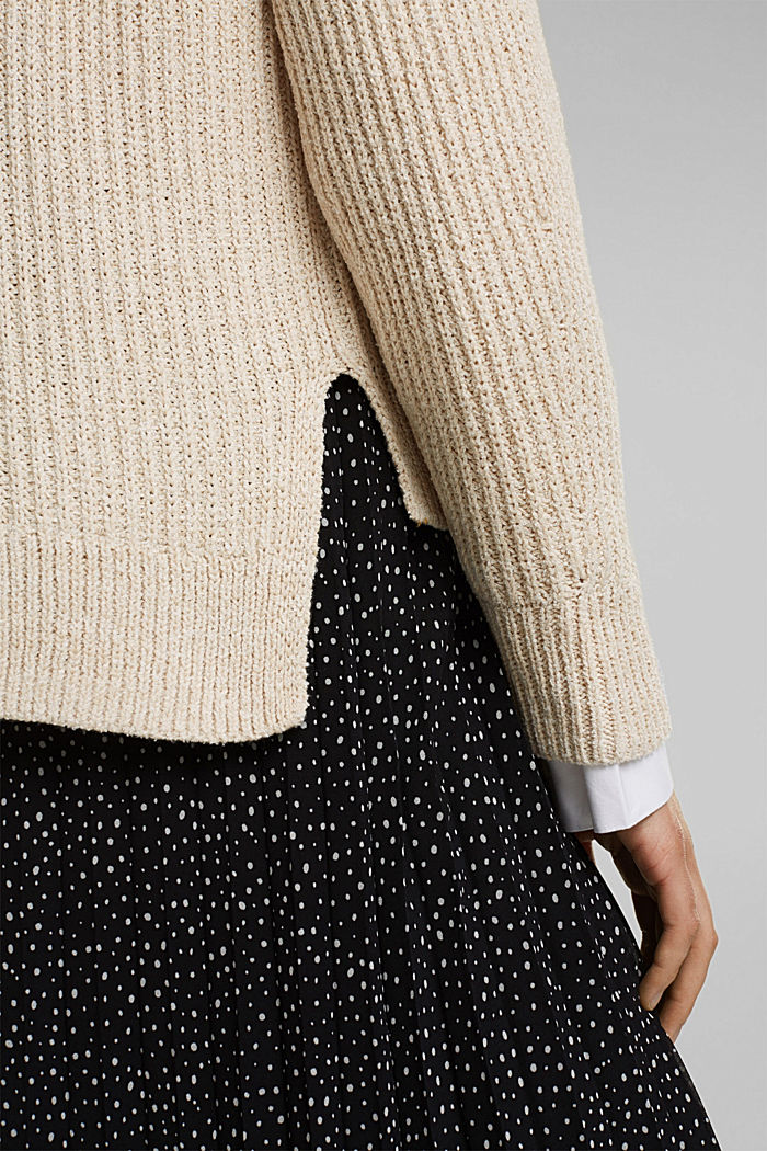Ribbed jumper containing organic cotton, BEIGE, detail image number 2