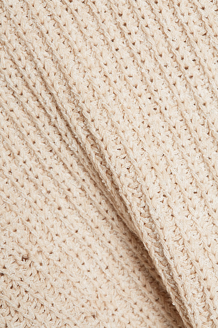 Ribbed jumper containing organic cotton, BEIGE, detail image number 4