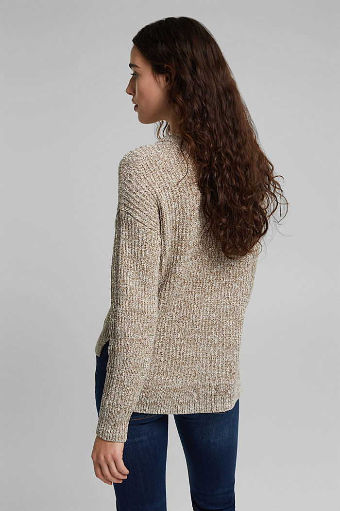 Ribbed jumper containing organic cotton, LIGHT KHAKI, detail image number 3