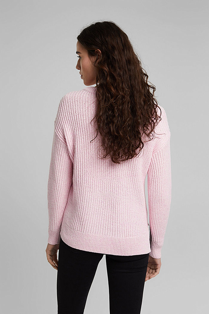 Ripp-Pulllover mit Organic Cotton, PINK, detail image number 3