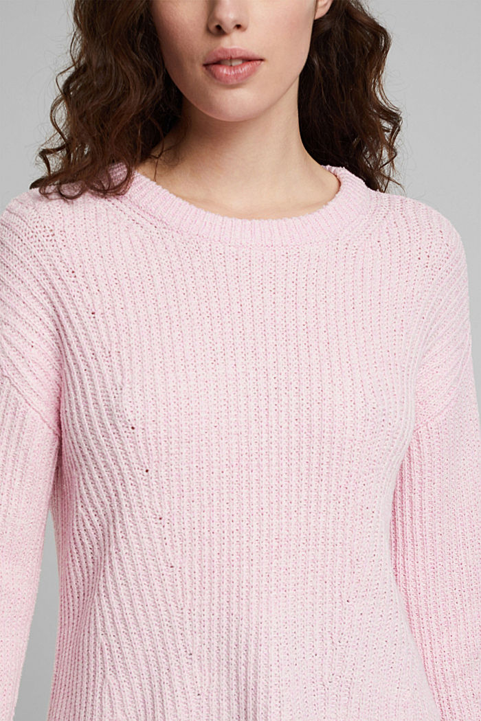 Ripp-Pulllover mit Organic Cotton, PINK, detail image number 2