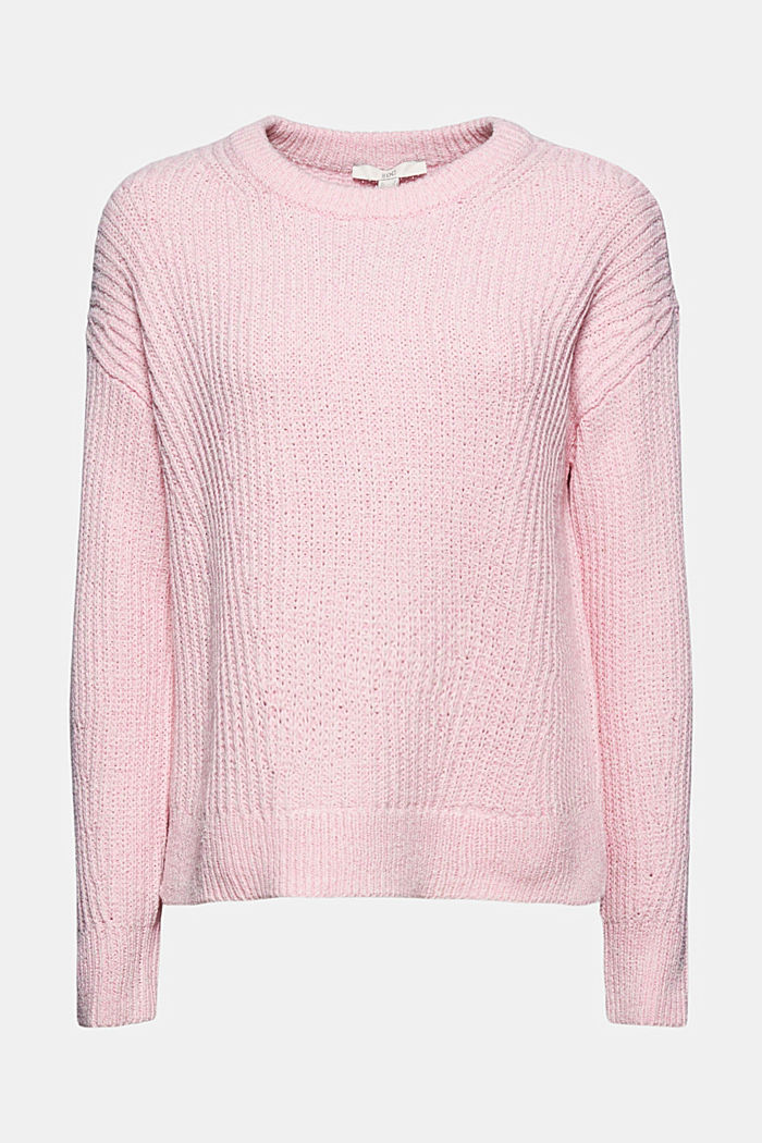 Ripp-Pulllover mit Organic Cotton, PINK, detail image number 8