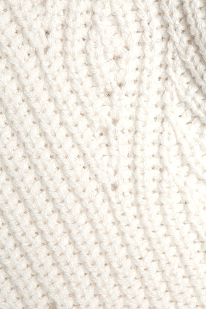 Cotton blend pointelle jumper, OFF WHITE, detail image number 4
