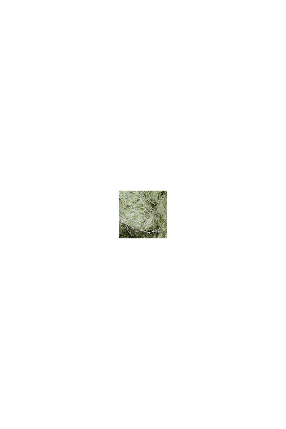 Cotton blend pointelle jumper, DUSTY GREEN, swatch