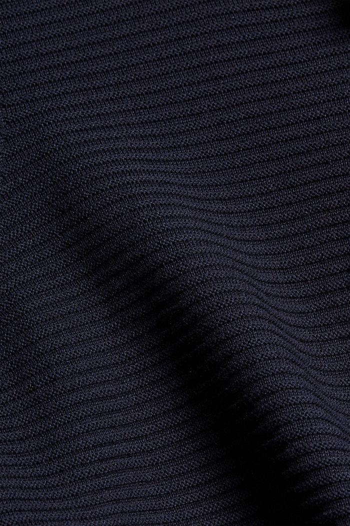Gerippter Kapuzen-Pullover mit Layer-Detail, NAVY, detail image number 4