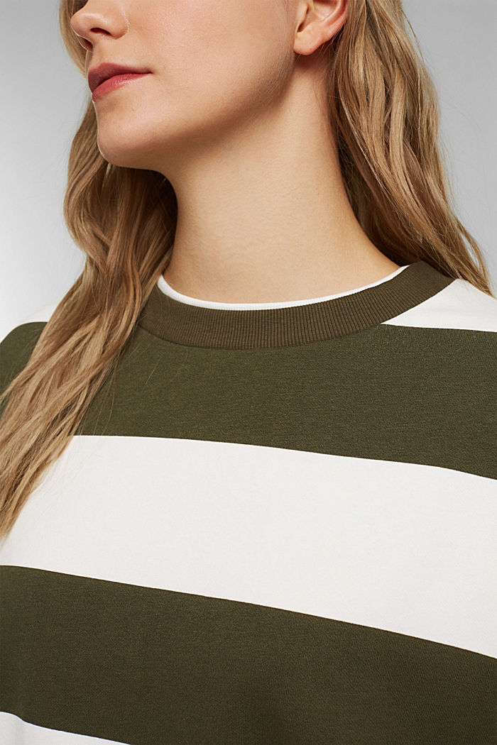Sweatshirt mit Blockstreifen, KHAKI GREEN, detail image number 2